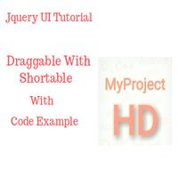 Draggable  Shortable | Jquery UI Tutorial